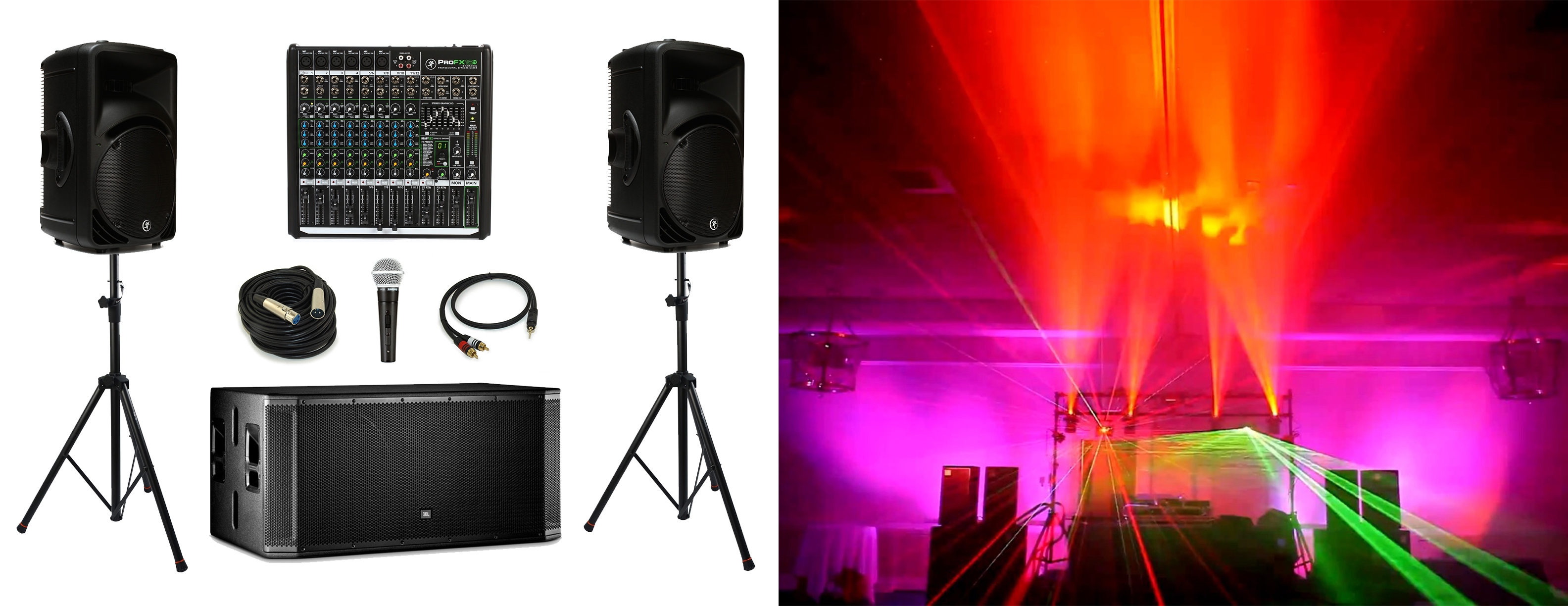 local party sound and lighting system rental in kansas